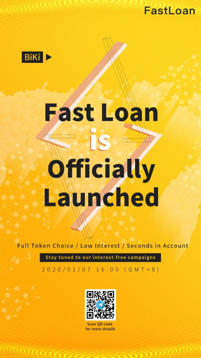 BiKi.com Launches BiKi Fast Loan