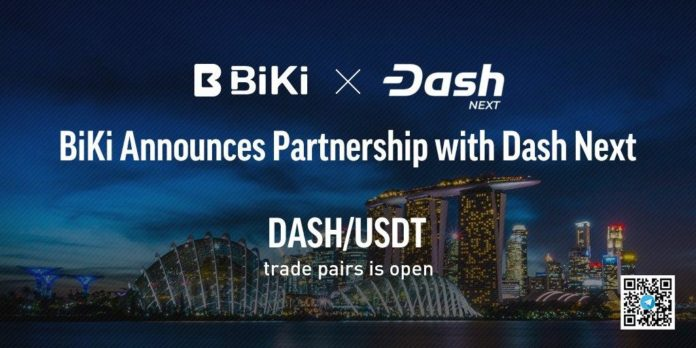 BiKi Announces Partnership with Dash.