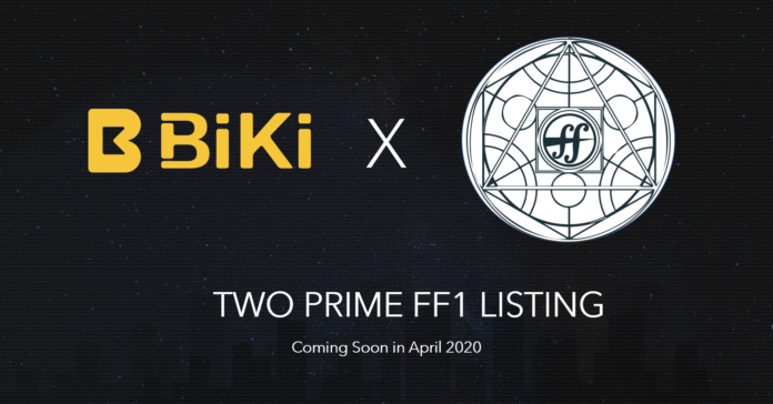 BiKi lists Two Prime FF1 banner